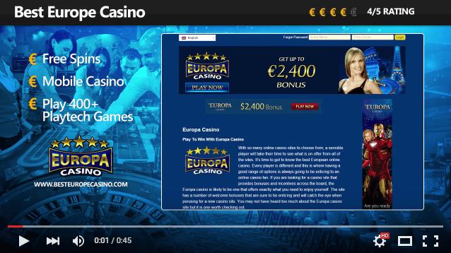 Europa Casino Video